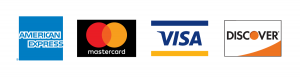 I accept visa, mastercard, discover and american express